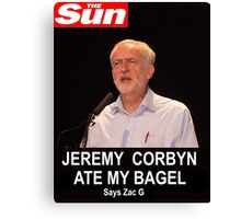 Jeremy Corbin Ate My Bagel Canvas Print