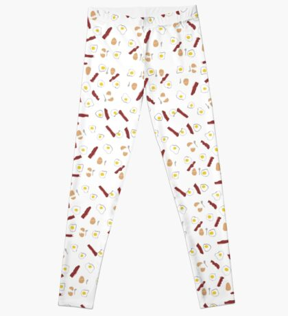Eggs and Bacon with Spoons Leggings