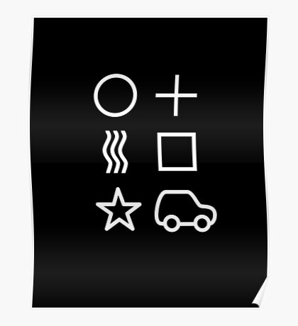 Psychic Driving symbols Poster
