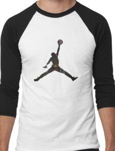 Toronto Raptors basketball silhouette Men's Baseball ¾ T-Shirt