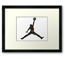 Toronto Raptors basketball silhouette Framed Print