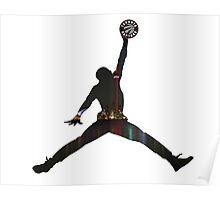 Toronto Raptors basketball silhouette Poster