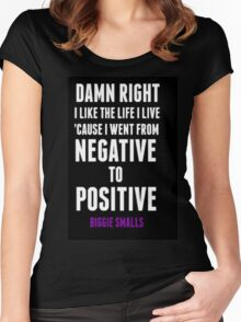 Positive and Negative... Women's Fitted Scoop T-Shirt