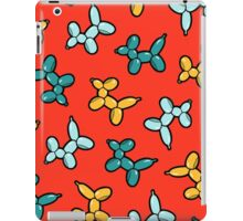 Balloon Animal Dogs Pattern in Red iPad Case/Skin