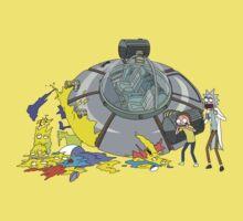 Rick and Morty Crash Gag One Piece - Short Sleeve