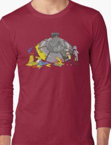 Rick and Morty Crash Gag Long Sleeve T-Shirt