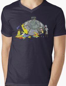 Rick and Morty Crash Gag Mens V-Neck T-Shirt