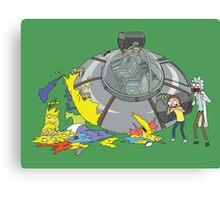 Rick and Morty Crash Gag Canvas Print
