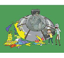 Rick and Morty Crash Gag Photographic Print