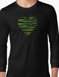 0616 Sap Green Tiger Long Sleeve T-Shirt