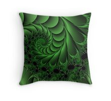 Green is the new now Throw Pillow