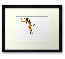Miley Dunks Framed Print