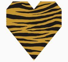 0618 Satin Sheen Gold Tiger Kids Tee