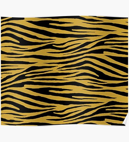 0618 Satin Sheen Gold Tiger Poster