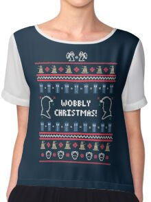 Have a Wobbly Christmas! Chiffon Top
