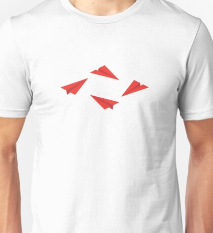 Red Paper Planes Unisex T-Shirt