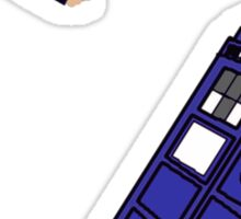 Doctor Who - Racing to the Tardis Sticker