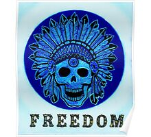 Freedom Indian Scull Poster