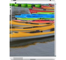 Tied up Kayaks on water iPad Case/Skin