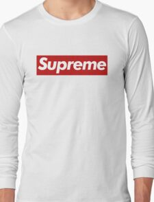 Supreme Logo - Large Size Long Sleeve T-Shirt