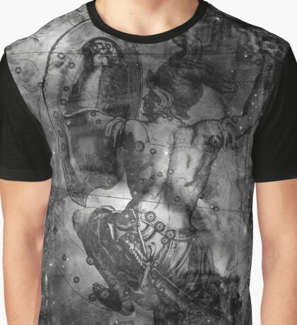 When The Stars Are Right - M78 in Orion (black & white version) Graphic T-Shirt