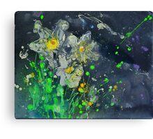 Neon Daffodils Canvas Print