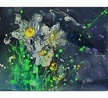 Neon Daffodils Photographic Print