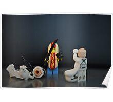 Hot Dog Samurai Poster