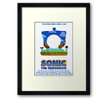 Sonic The Hedgehog 1 Framed Print