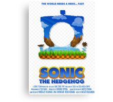 Sonic The Hedgehog 1 Canvas Print