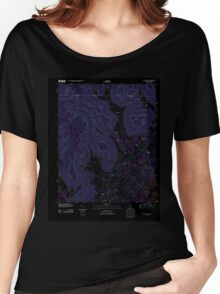 USGS TOPO Map Alabama AL Doran Cove 20111013 TM Inverted Women's Relaxed Fit T-Shirt