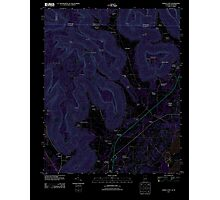 USGS TOPO Map Alabama AL Doran Cove 20111013 TM Inverted Photographic Print
