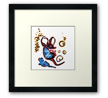 The Big Cheese - on white Framed Print