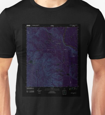 USGS TOPO Map Alabama AL Lower Peach Tree 20110928 TM Inverted Unisex T-Shirt