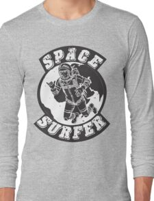 space surfer gray Long Sleeve T-Shirt