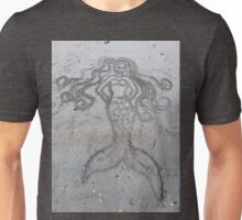 Mermaid Sand Drawing Unisex T-Shirt