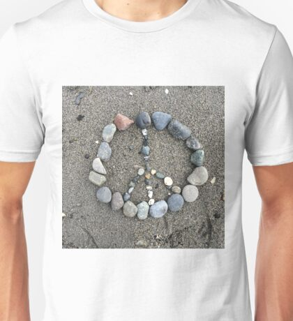 Peace Sign out of Stone Unisex T-Shirt