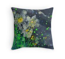 Neon Daffodils Throw Pillow
