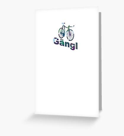 gangle race Greeting Card