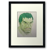 Super Hero Illustration 3 Framed Print