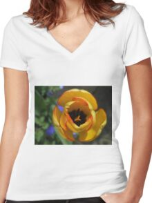 Last, but not least in love...Long Awaited Tulip Women's Fitted V-Neck T-Shirt