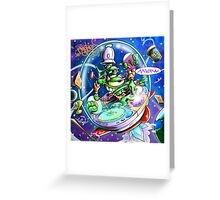 Yedi Fresh ( JELLYFISH LAZER FACE ) Greeting Card