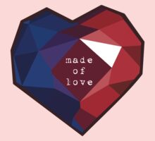 Garnet--Made of Love Kids Tee