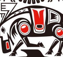 Haida tribal three animals Sticker