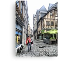 The Streets of Rouen ( 3 ) Canvas Print