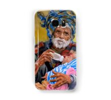 Grandfather and his grandchild Samsung Galaxy Case/Skin