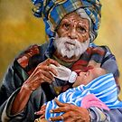Grandfather and his grandchild by Hidemi Tada