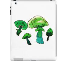 green and blue watercolor mushrooms iPad Case/Skin