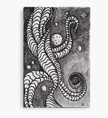 Cosmos, Pen and ink drawing  Canvas Print