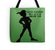Peter Pan Silhouette Tote Bag